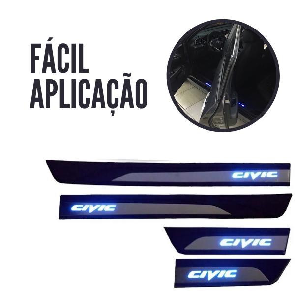 Soleira de Porta LED Zapos Civic 2017 a 2020