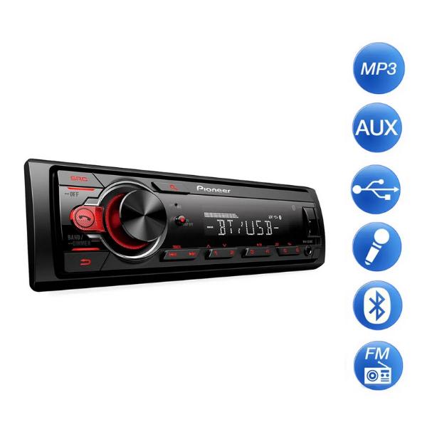 Som Automotivo Pioneer Mvh-s218bt Usb/Aux/Bluetooth