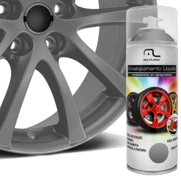 Spray Envelopamento Liquido Prata 400ml Multilaser Au423 Plástico Metais