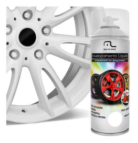 Spray Envelopamento Liquido Branco Fosco 400ml Multilaser Au421 Plástico Metais