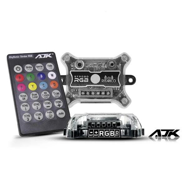 Strobo Automotivo AJK Ritmo 2.0 Faróis RGB Com controle