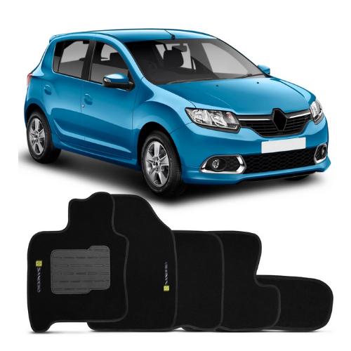 Tapete Carpete Renault Sandero Com Bordado