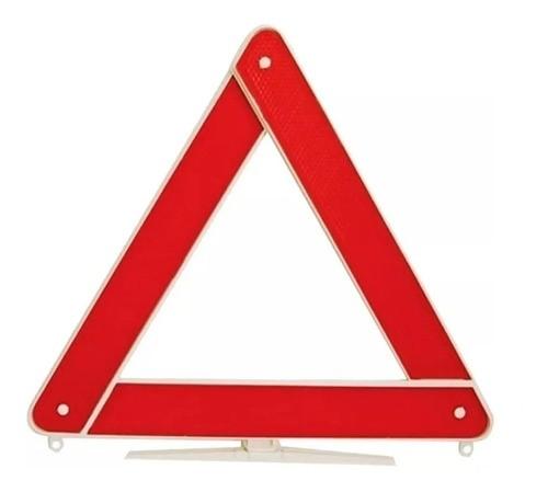 Triangulo Sinalização Carro Branco Com Certificado Abnt