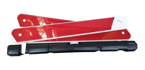 Triangulo Sinalização Carro Caminhão Com Base Pesada Branco e estojo