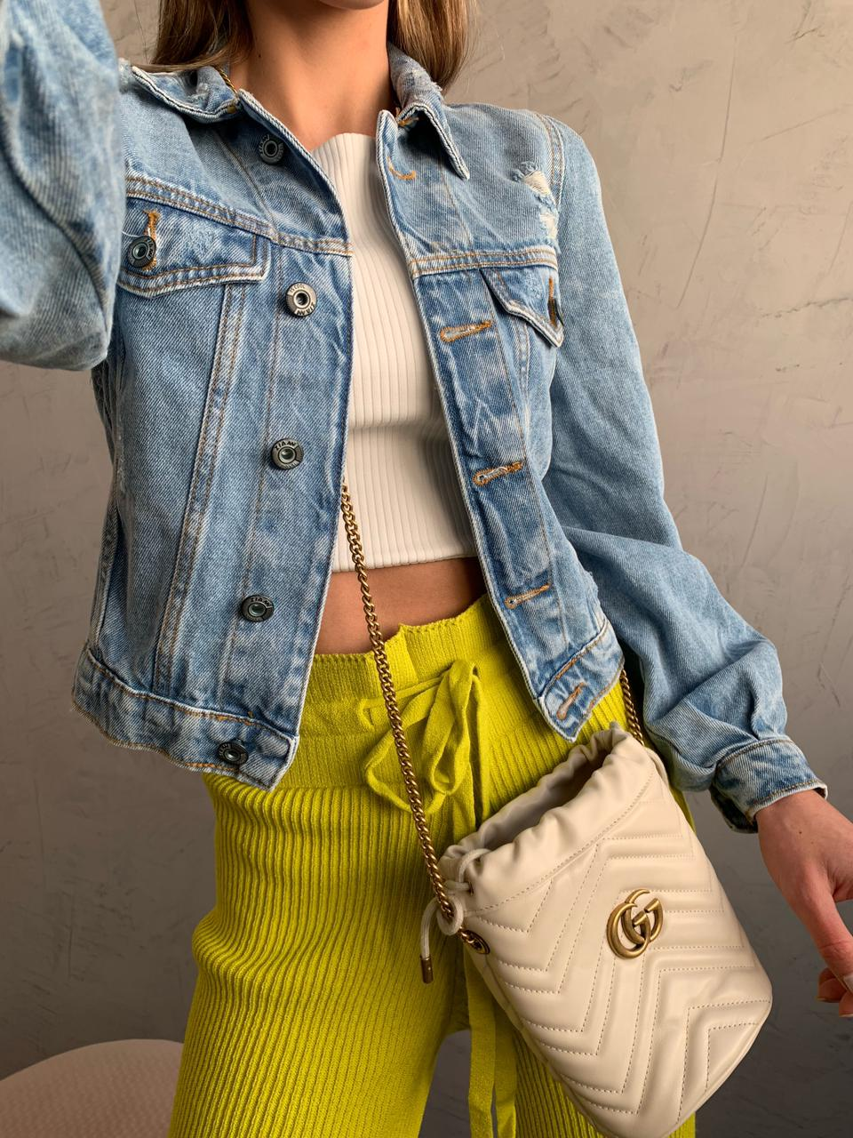 Jaqueta JEANS Cropped Geh