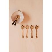 Kit Mini Colheres Sobremesa Dourado