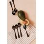 Kit Mini Colheres Sobremesa Preto