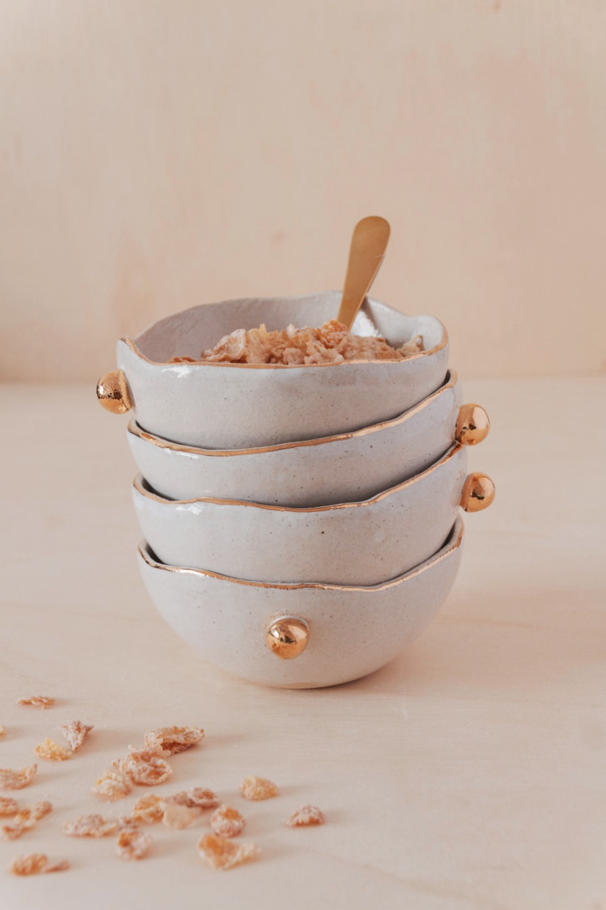 Bowl Ceramica Ouro