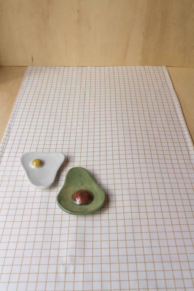 Caminho de mesa largo mini grid