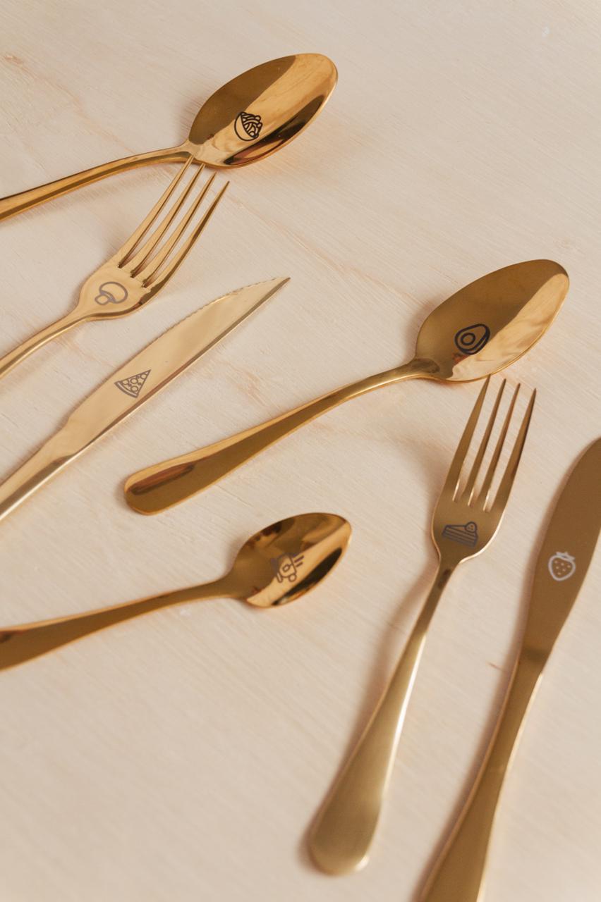 Kit Completo Talheres Dourado