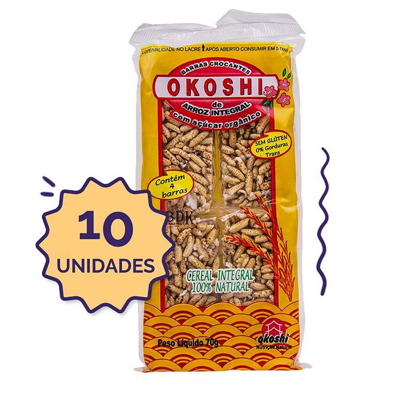 10 unidades - Okoshi Integral  70g