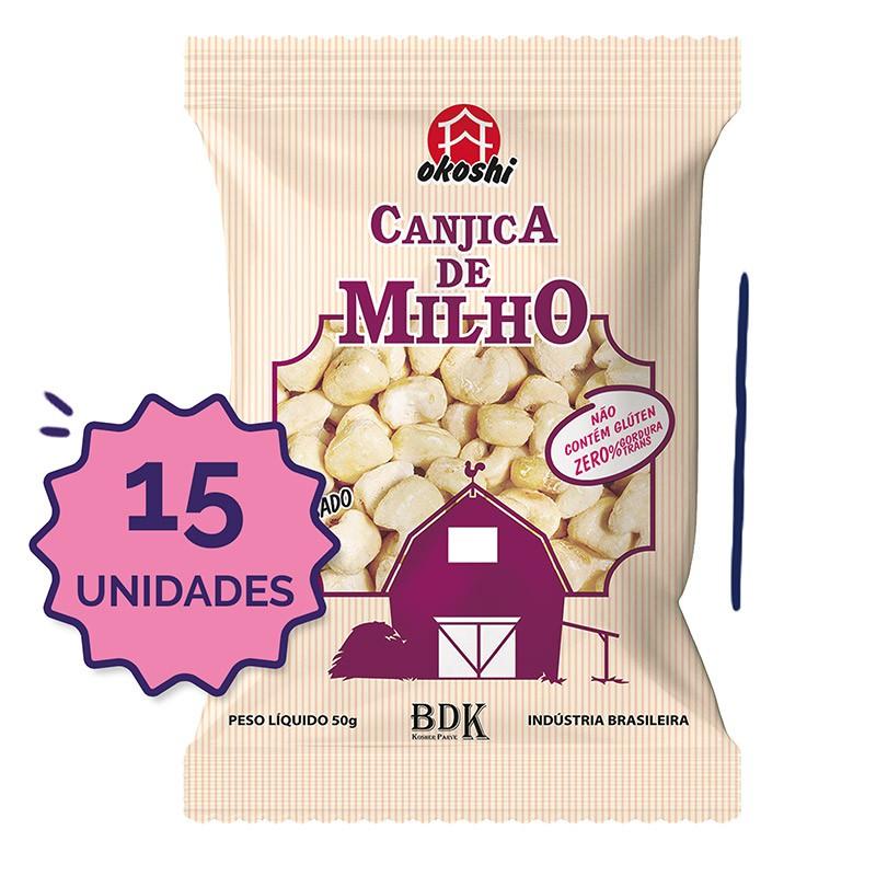 15 unidades - Canjica de Milho com Açúcar Orgânico 50g