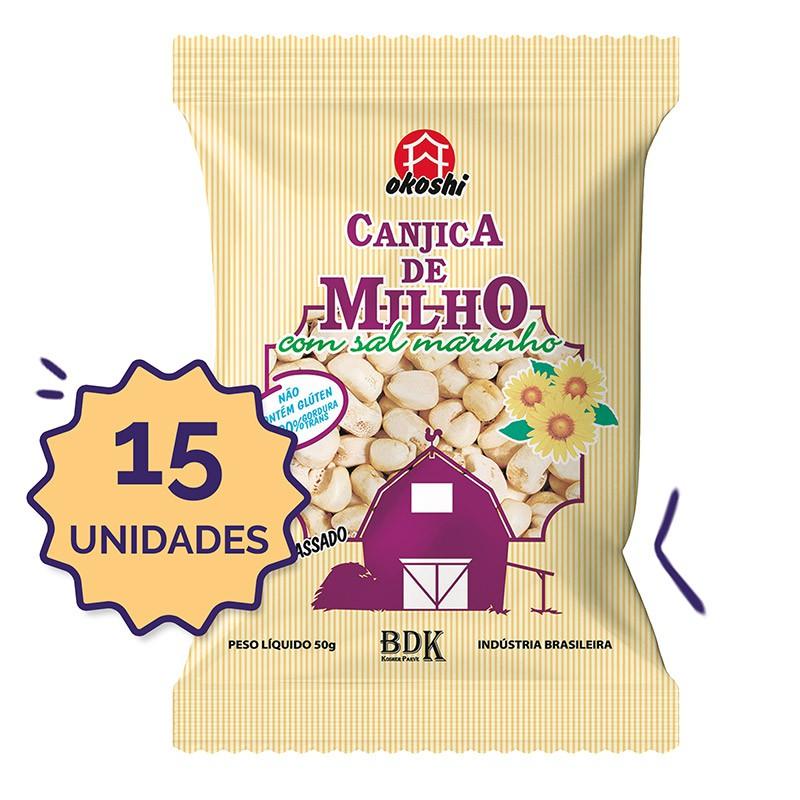 15 unidades - Canjica de Milho com Sal Marinho 50g