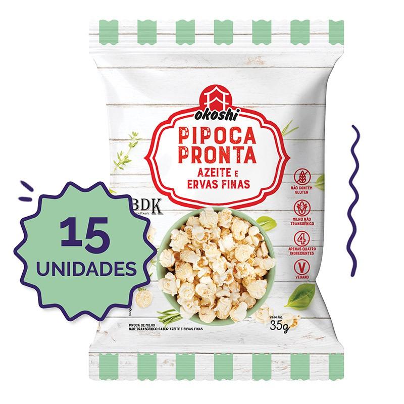 15 unidades - Pipoca Pronta Azeite & Ervas Finas - 35g