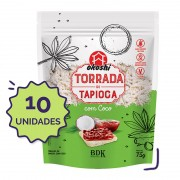 10 unidades - Torrada de Tapioca com Coco 75g
