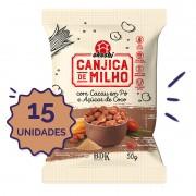 15 unidades - Canjica de Milho com Cacau em Pó e Açúcar de Coco 50g