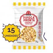 15 unidades - Pipoca Pronta Caramelo & Flor de Sal 50g