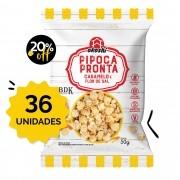 SUPER PACK 36 unidades - Pipoca Pronta sabor CARAMELO & FLOR-DE-SAL 50g