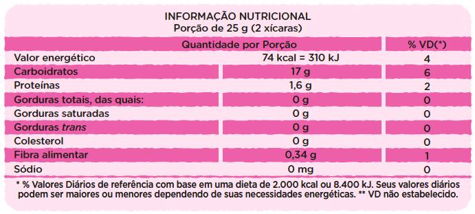 Canjica de Milho com Açúcar Orgânico - 50g