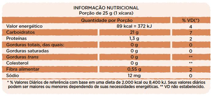 Canjica de Milho com Cacau em Pó e Açúcar de Coco - 50g