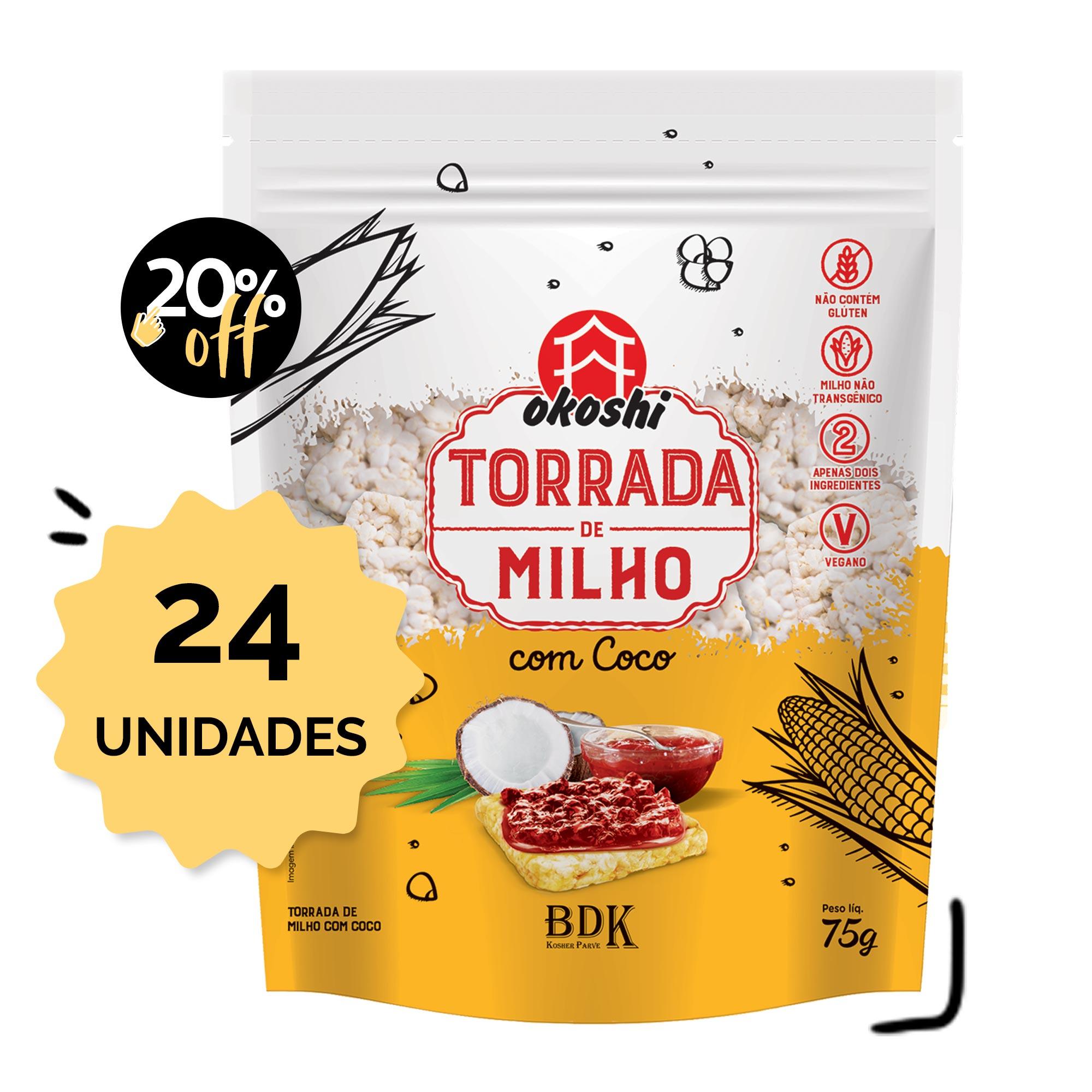 SUPER PACK 24 unidades - Torrada de Milho com Coco