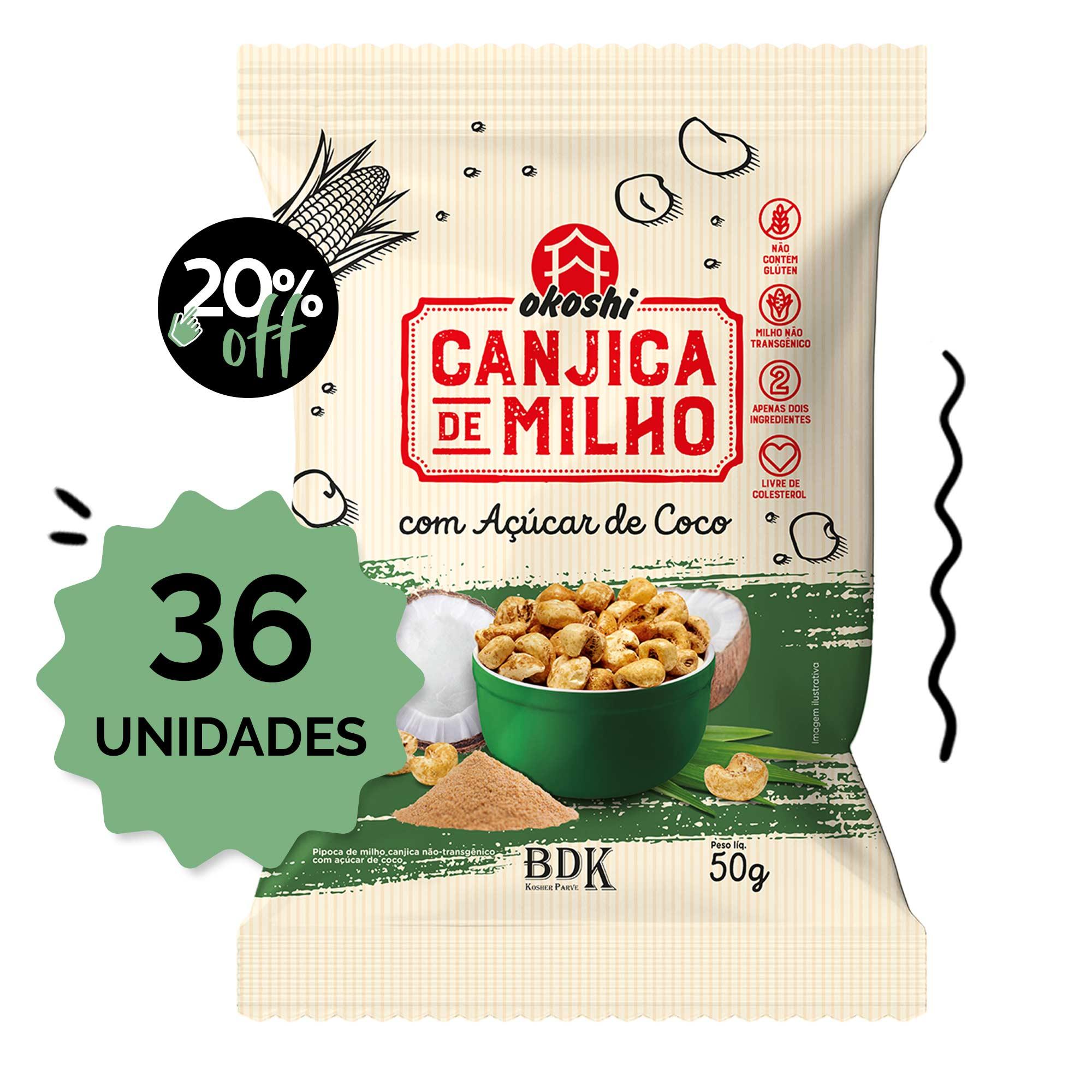 SUPER PACK 36 unidades - Canjica de Milho com Açúcar de Coco