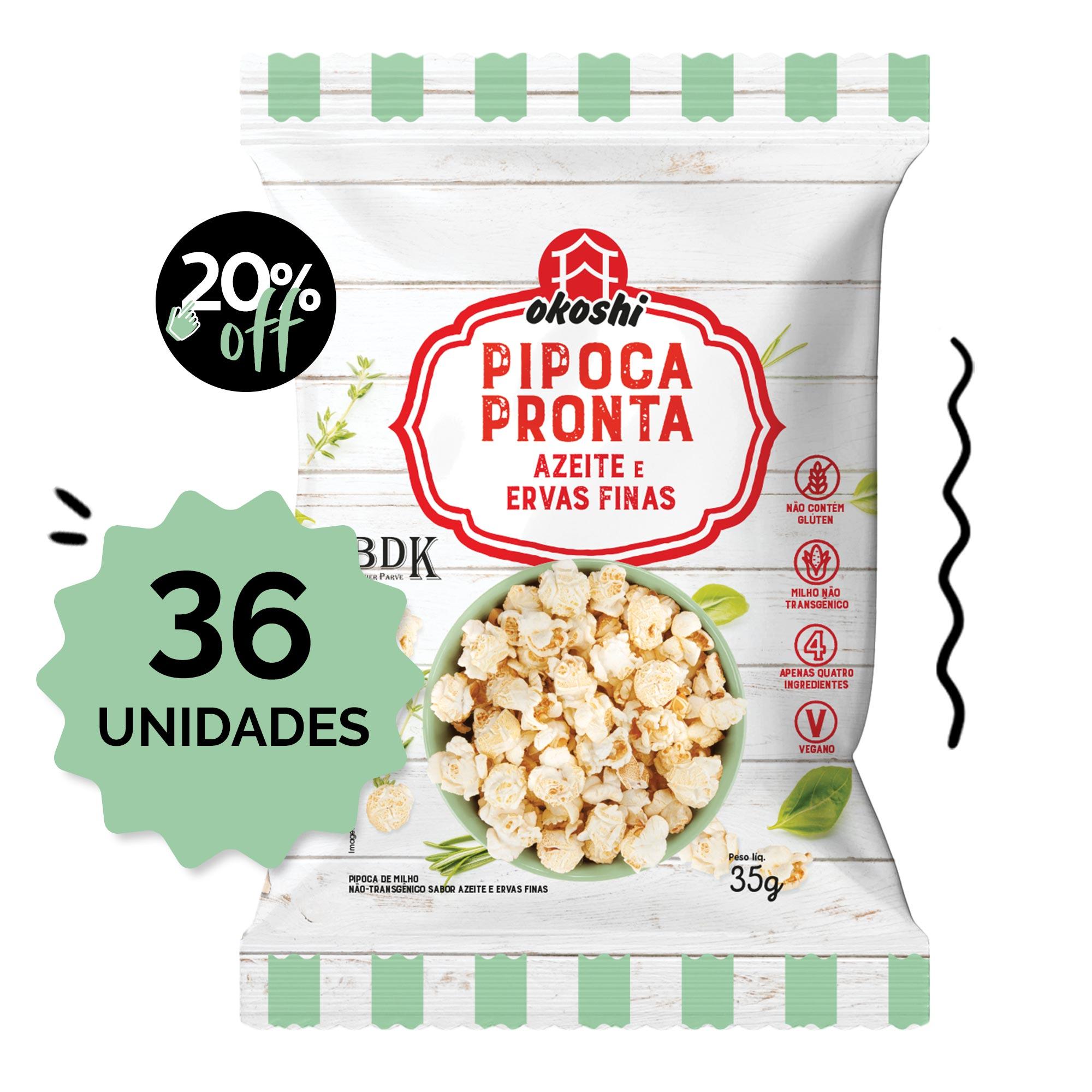 SUPER PACK 36 unidades - Pipoca Pronta Azeite & Ervas-finas 36g