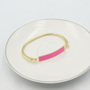 BRACELETE PLACA COLOR - ROSA PINK