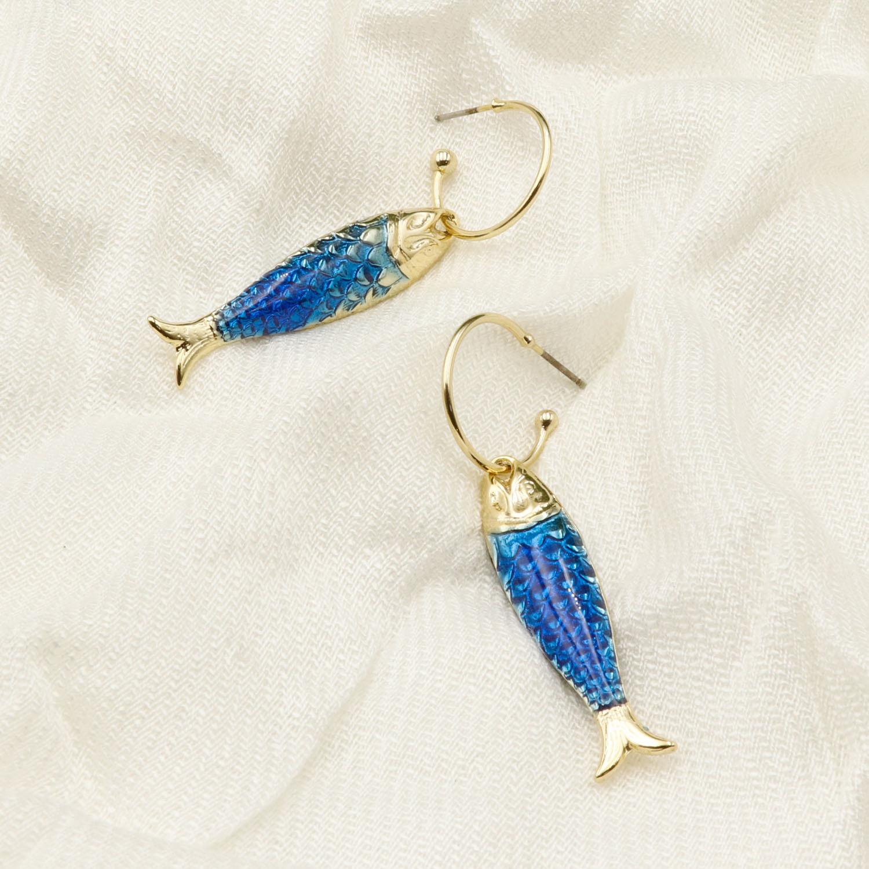 ARGOLA  FISH - AZUL