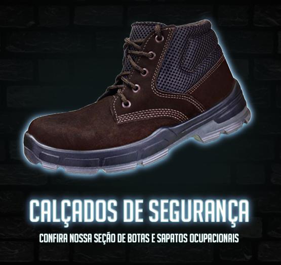Confira nossos calçados de segurança.