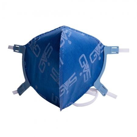 Máscara Respiratória Hospitalar Dobrável PFF2 azul GVS