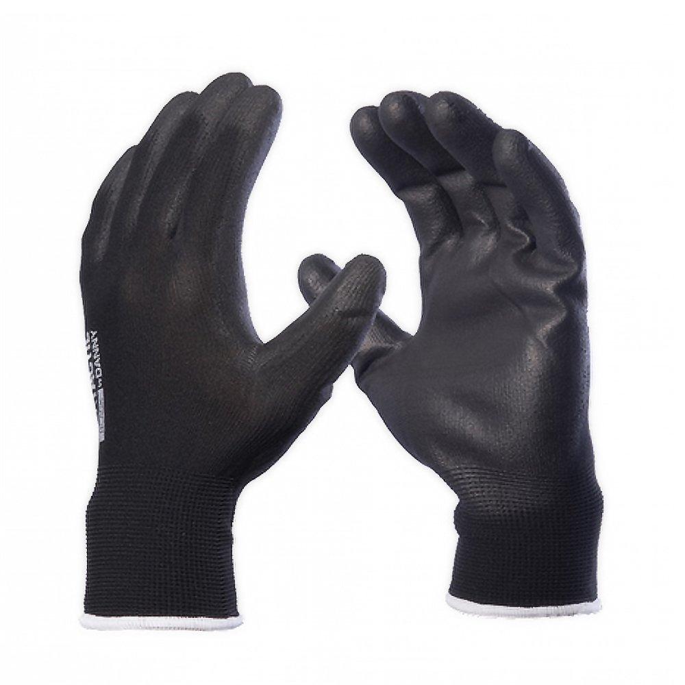 Luva tricotada preta banho em PU Flextáctil Danny CA 29014