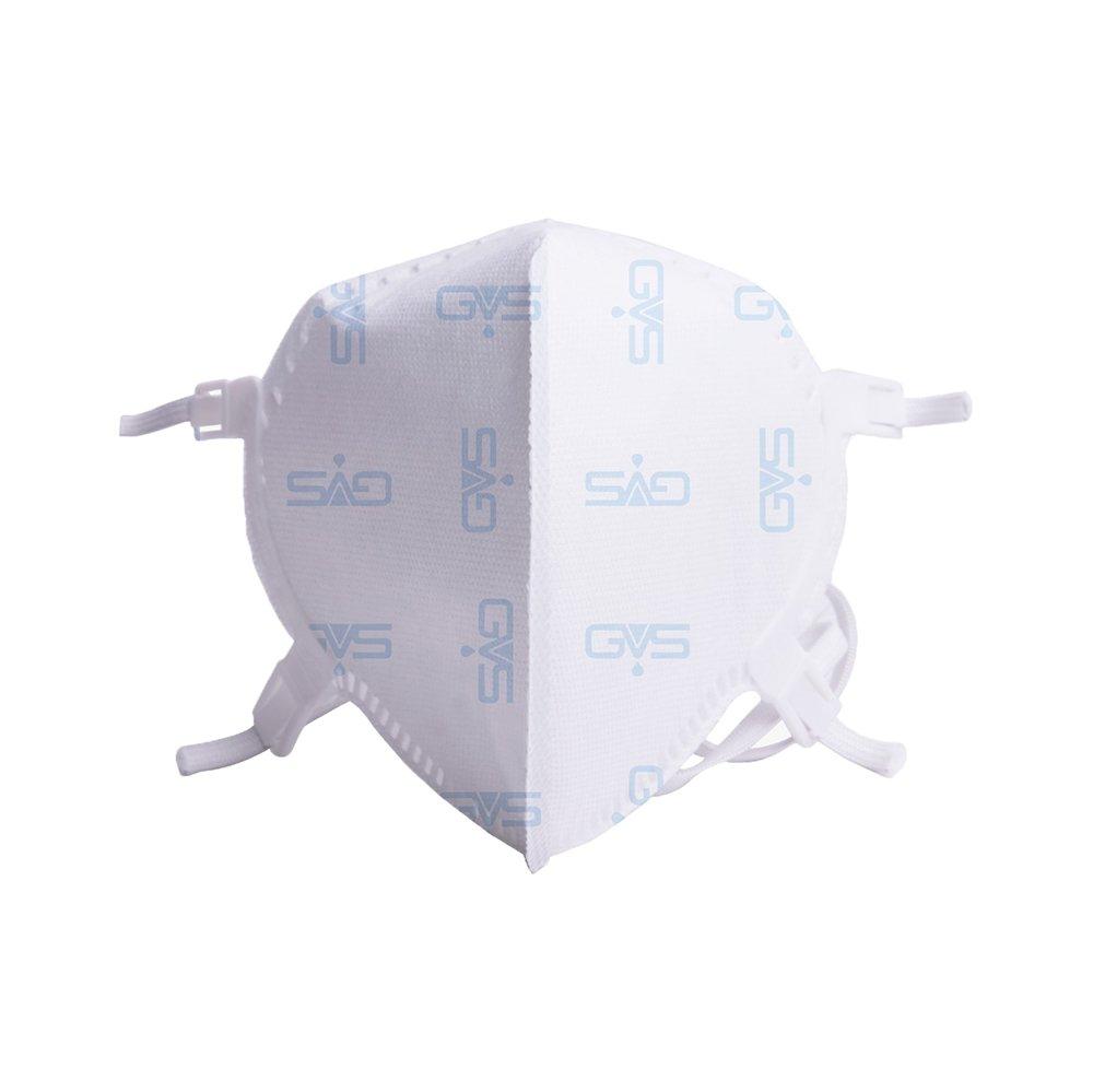 Máscara Respiratória Hospitalar Dobrável PFF2 Branca GVS