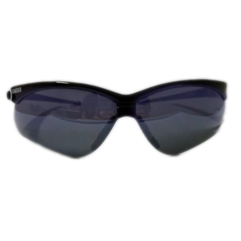 Óculos nemesis armação preta lente espelhada resistente à impactos
