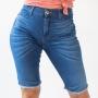 Bermuda Jeans Ciclista Feminina Alta Strech Anticorpus