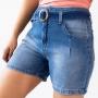 Bermuda Mom Destroyed Jeans Feminino Cintura Alta Anticorpus
