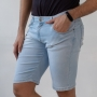 Bermuda Skinny Jeans Claro Masculina Délavé Anticorpus