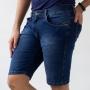 Bermuda Skinny Masculina Jeans Escuro Strech Anticorpus