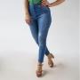 Calça Cropped Alta Jeans Feminina Puídos Anticorpus