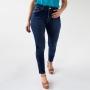 Calça Cropped Feminina Jeans Azul Escuro Alta Anticorpus
