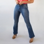 Calça Flare Petit Jeans Feminina Média Tradicional Anticorpus