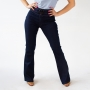Calça Jeans Flare Alta Feminina Com Cinto Escura Anticorpus