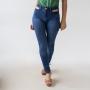 Calça Jeans Skinny Alta Feminina Bolso Vazado Anticorpus