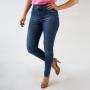 Calça Jeans Skinny Feminina Cintura Média Puído Anticorpus