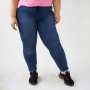 Calça Jogger Jeans Plus Size Alta Stretch Amarril Anticorpus