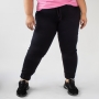 Calça Jogger Plus Size Preta Sarja Stretch Feminina Anticorpus
