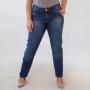 Calça Plus Size Jeans Cigarrete Feminina Media Anticorpus