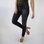 Calça Skinny Alta Jeans Preto Feminina Stretch Anticorpus