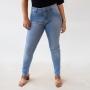 Calça Skinny Jeans Claro Feminina Cintura Alta Anticorpus