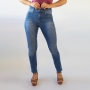 Calça Skinny Jeans Lavado Feminina Cintura Alta Anticorpus